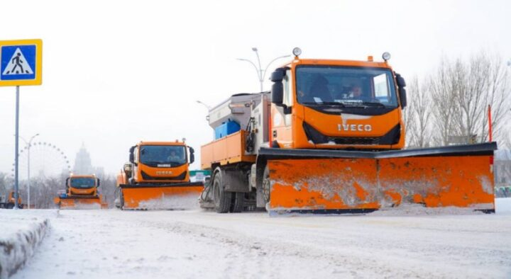 Almost 40 thousand cubic meters of snow removed from Nur-Sultan per day